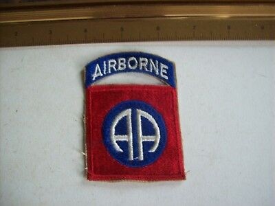 military patch lot; WW2, 82nd Airborne one piece, cut-edge