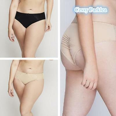 "US ""CACIQUE""Black Beige Plus Size Extra Soft Microfiber Cheeky Panty Ruched-Back"