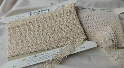 21 Yards Vtg Intricate Lace From Tex Craft & Duplex Never Used Must See !!