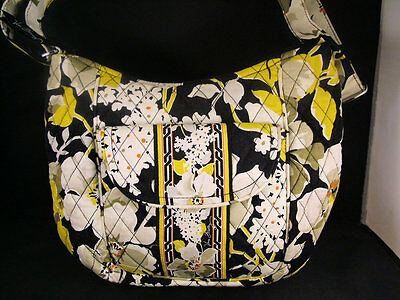 Vera Bradley(r) N2N Carryall/CROSSBODYbag, Floral Print on Black ground/QVCretrd
