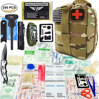 Everlit Survival 250 Pcs Military First Aid Kit IFAK EMT Molle Bag