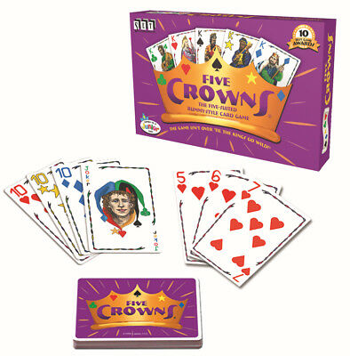 Five Crowns Cards Playing Game 5 Suites Classic Original Family Social Party .