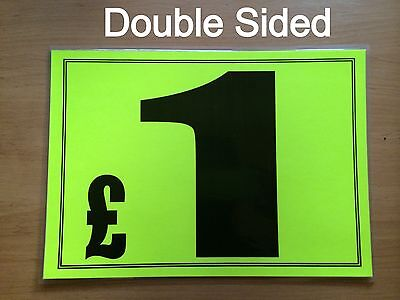 Market Trader Display Sign Card A4 Size Double Sided