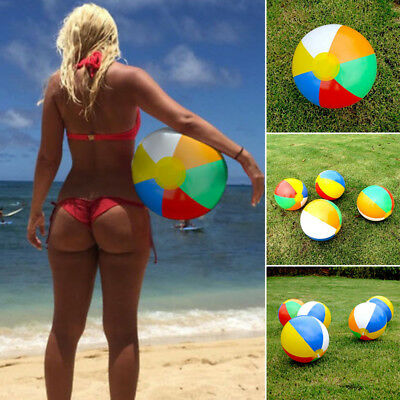 1x Inflatable Blowup Beach Ball Swimming Pool Ball Holiday Garden Funny Toy Hot