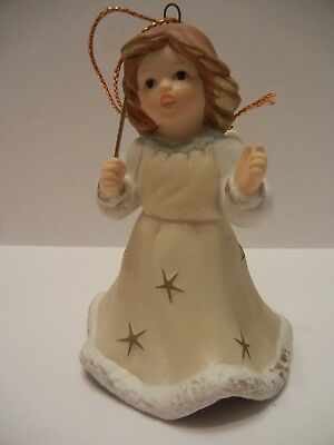 Goebel Ornament Annual Angel Bell 2006 Yellow Gown With Stars Holding Wand
