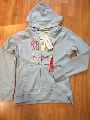 New with Tags Girls Roxy Fur Lined Hoodie Jacket  Sky Blue color
