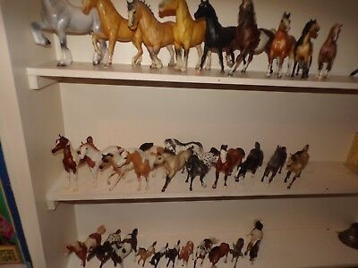 vintage lot of  (31)  breyer & peter stone horses fresh estate find wow!!!