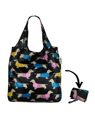 Compact Dachshund Large Foldable Reusable Shopping Tote Bag
