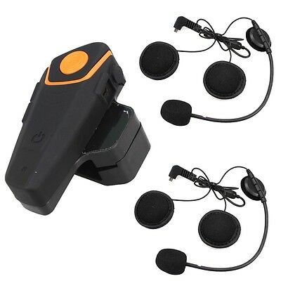 1000M Bluetooth BT-S2 Motorcycle & Motorbike Helmet Intercom Headset FM Radio