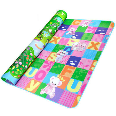 Kids Playing Mat Crawling Baby Double Side Bear Giraffe Rug Pad 200*180*0.3cm