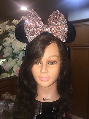 Disneyland Minnie Mouse Ears Rose Gold Oversized Bow