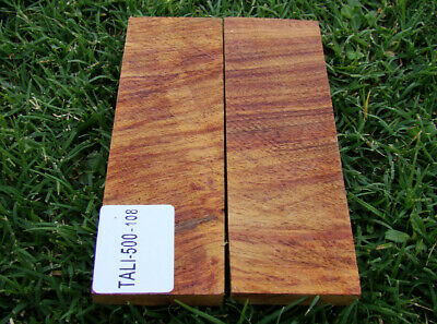 "5"" Pair of Exotic Wood Scales Knife Handle Making Blanks Bush Crafts TOP! (5041"