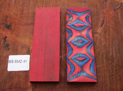 "5"" Pair of Exotic Wood Scales Knife Handle Making Blanks Bush Crafts TOP! (5042"