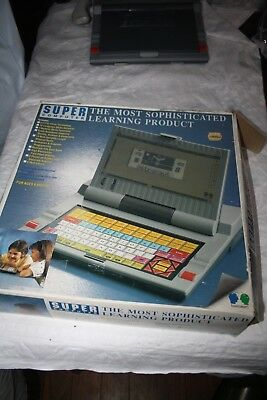 Retro Super Computer Cool Early Childrens Computer Boxed working Team Concept