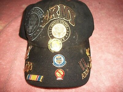 Vintage Army Hat With 10 Medals
