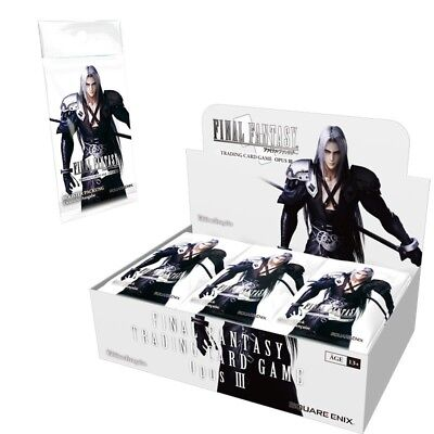 Card Game carte FINAL FANTASY JCC - Display BOITE 36 boosters FR complet opus 3
