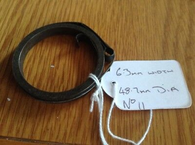 Small Clock Main Spring 6.3mm Width 48.7mm  Diameter Complete & Good Condition