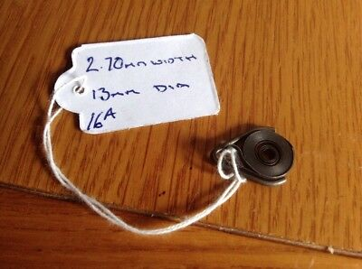 Small Clock Main Spring 2.70mm Width ,13mm Diameter  Complete & Good Condition