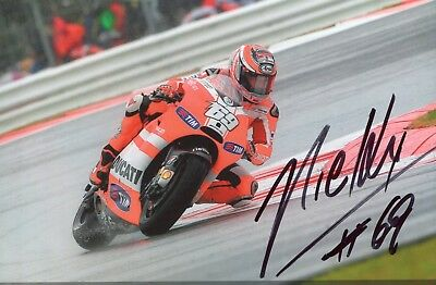 Photo de Nicky Hayden pilote de moto signature autographe E5!