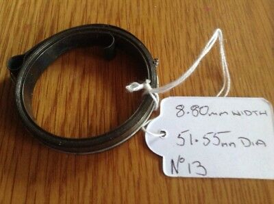 Small Clock Main Spring 8.80mm Width 51.55mm Diameter Complete & Good Condition