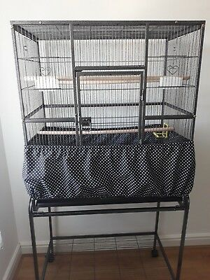 X LARGE BIRD CAGE TIDY-SEED CATCHER-SKIRT TYPE-TO FIT 78cmx48cm/78cmx52cm  CAGE