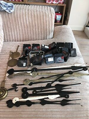 Job Lot clock parts, motors, clock hands & pendulums