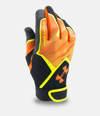 Under Armour Ua Cleanup Youth Graphic Print Baseball Batting Gloves 1291216-731