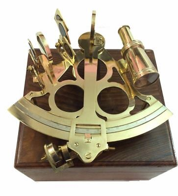 Marine Navigational Brass Nautical Sextant Maritime Astrolabe Marine 8""
