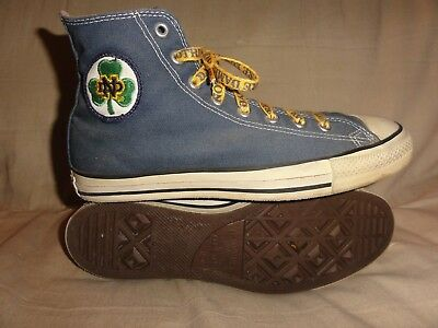 Vintage Converse All Stars Notre Dame High Tops Made In Usa Size 10.5 Mens