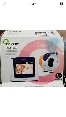 NEW Oricom secure 870 Touchscreen Video Baby Monitor
