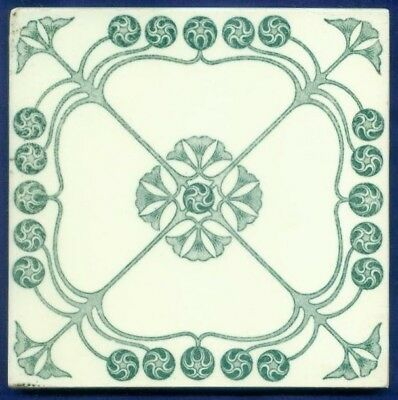 Jugendstil Fliese Kachel, Art Nouveau Tile, Tegel, SERVAIS, Ornament floral