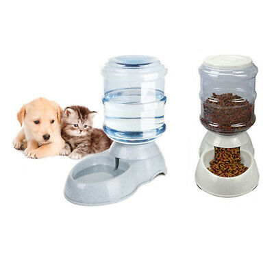 Automatic Pet Dog Cat Water Feeder Bowl Bottle Dispenser Plastic 3.5Liters EU