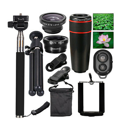 10 in 1 Accessories Phone Camera Lens Top Travel Kit For Mobile Smart Phone EU