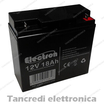 BATTERIA AL PIOMBO AGM RICARICABILE 12V 18Ah DEEP CYCLE ERMETICA VRLA GEL