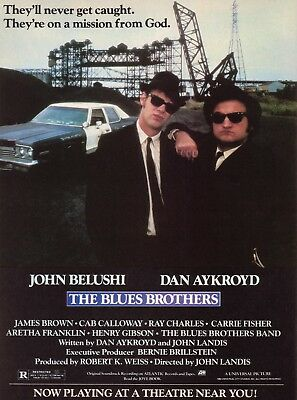 The Blues Brothers 1980 Movie Poster Print A0-A1-A2-A3-A4-A5-A6-MAXI 917