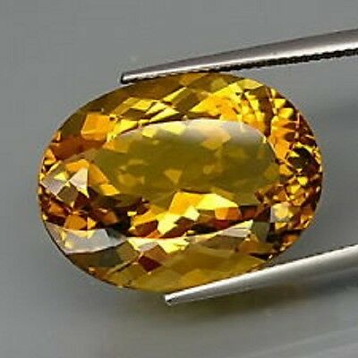 Scintillante Citrine jaune or ovale 15,05 ct -IF- Brésil