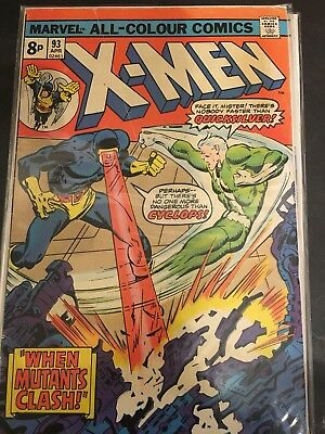 The (Uncanny) X-MEN # 93 Marvel Comic (April 1975)   Quicksilver