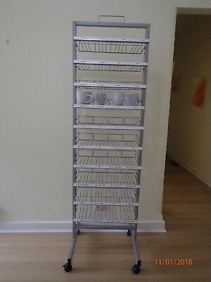 Ten-layered Display Stand (metal) on castors for 120 cups and mugs VGC