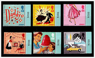 """Jersey 2016 """"1950s Popular Culture/Music/Rock & Roll"""" Stamps. MNH. #563"""