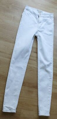 New Look High Waist Super Skinny White Jeans size 6 from New Look
