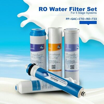 Superior 50GPD Full RO Water Filter set Replace for 5 Stage System Purify Device