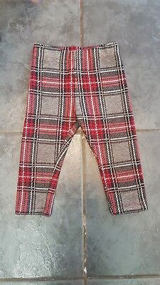 Next Girl Tartan Leggings 12-18 Months