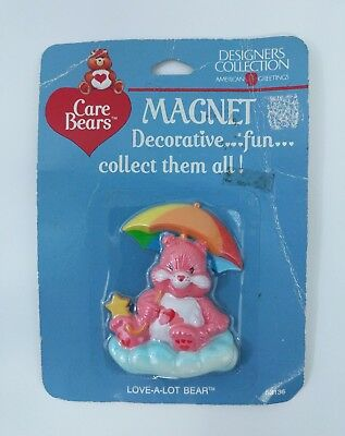 Vintage Care Bears American Greetings Refrigerator Magnet Love a Lot 1985 NEW