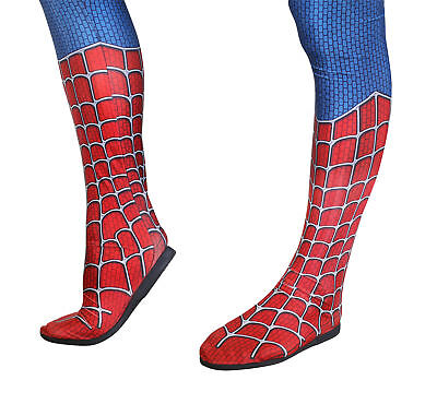 New Fashion Superhero Spiderman Cosplay Boots Shoes Zentai Suit Insole Any Size
