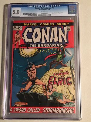 CONAN THE BARBARIAN 14 CGC 5.0 never pressed My 1st onsite!