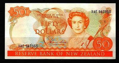 New Zealand - ND(1981-85) Reserve bank $50  P174a Banknote XF/aXF+ Condition