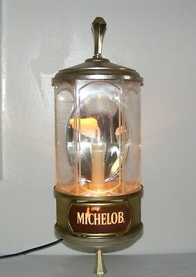 """(FZ) 1982 19"""" x 7"""" Vintage Michelob Anheuser busch Crystal beer lamp Wall Sconce"""