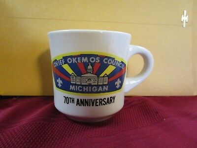 BSA Boy Scouts Chief Okemos counsil Michigan 70th Anniversary mug