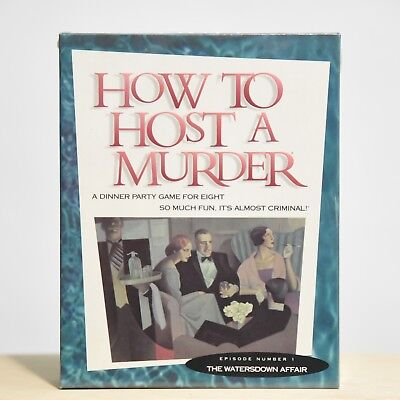 """How To Host A Murder Episode 1 - """"the Watersdown Affair"""" Party Game - New"""