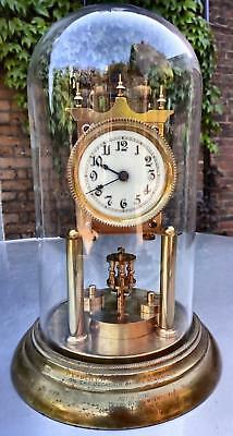 Phillipp Haas Torsion Anniversary 400 Day Clock 1907  Presentation Inscription